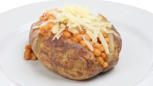 Nope. Jacket potato loaded with baked beans and cheese.
