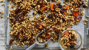 Photograph by William Meppem (photographer on contract, no restrictions) Helen Goh: Puffed rice, Pecan and Maple granola
