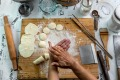 Hands-on: Angie Chong has taken her dumpling-making classes online.