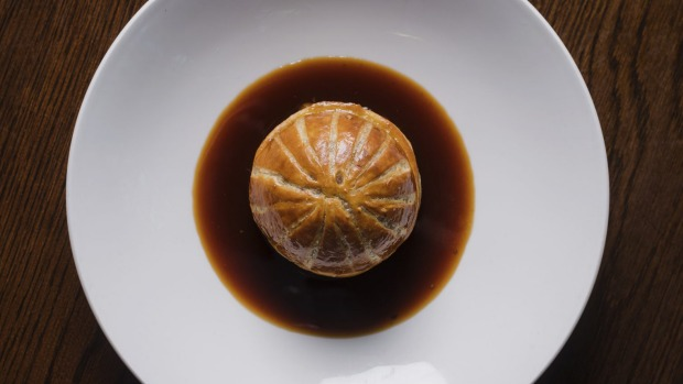 Duck pithivier with creamed silverbeet and duck broth ticks all the pie boxes.