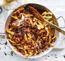 Adam Liaw's casarecce with pork and fennel ragu.