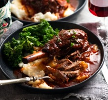 RecipeTinEats' lamb shanks in red wine sauce.