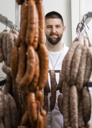 Luke Powell from LP's Quality Meats in Chippendale, Sydney.