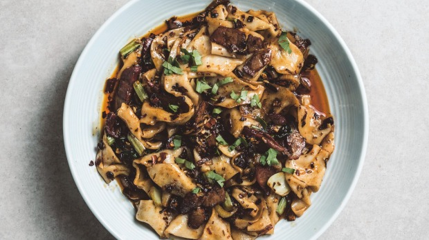 Biangbiangnoodles with spicy cumin lamb From Brendan Pang cookbook This is a Book About Dumplings Photographer: Thomas Davidson For Good Food interview and recipe extract EMBARGO JULY 20, 2020