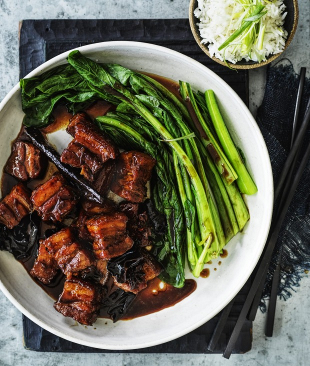 Serve this rich, glossy and sticky pork with steamed greens and rice.