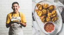 The MasterChef finalist cooks fried shrimp wontons just like his grandmère taught him to.