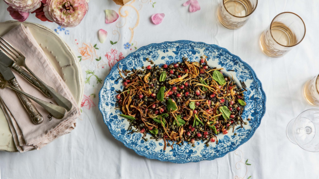 **EMBARGOED FOR GOOD FOOD, AUGUST 4, 2020** Wild rice and lentil salad from A Table for Friends by Skye McAlpine.
