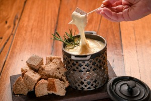 Cheese fondue from the Milk the Cow in St Kilda.
