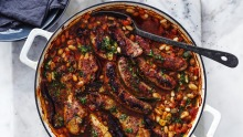 Adam Liaw's simplified chicken and sausage cassoulet.