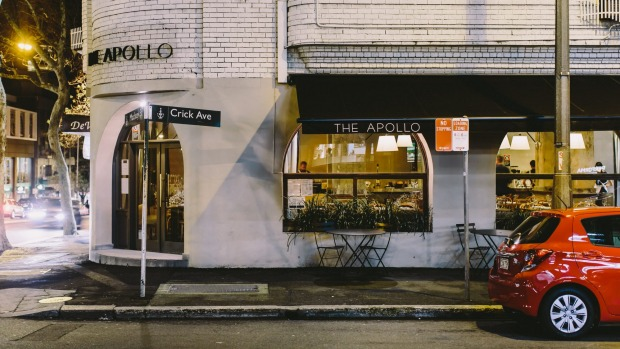 The Apollo restaurant in Potts Point, pictured here prior to social distancing being enforced.