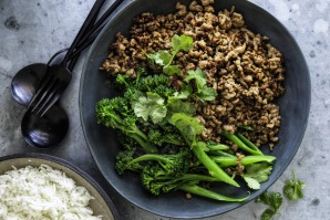 Mince with oyster sauce. Just add greens and steamed rice.