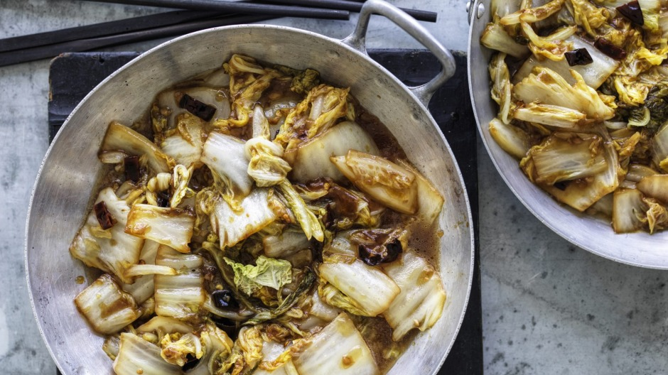 Chinese cabbage with chilli, garlic and vinegar.