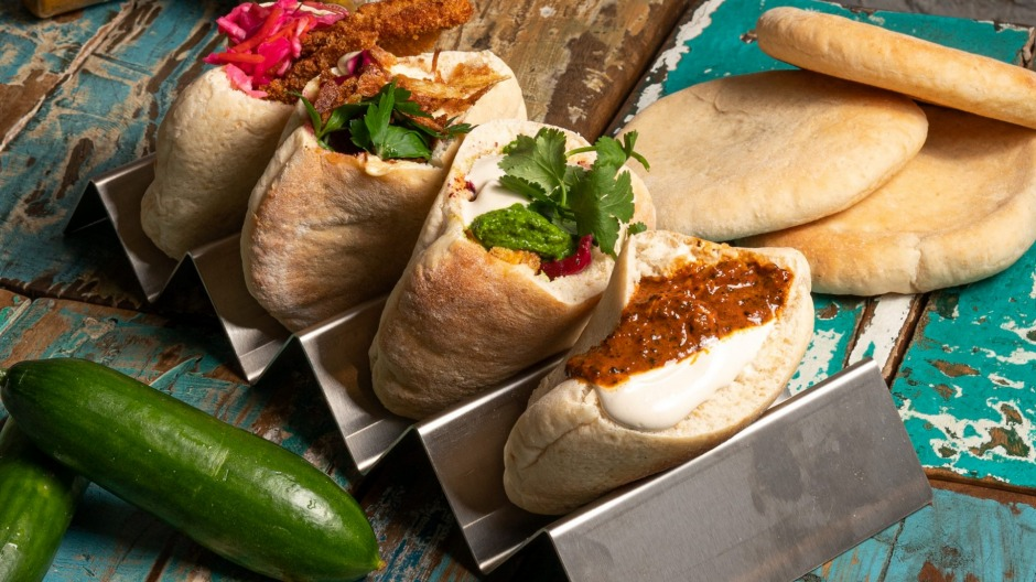 Chik Chak's fresh pita pockets come with a range of fillings.
