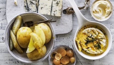 Boiled Potatoes With Baked Camembert Recipe Good Food