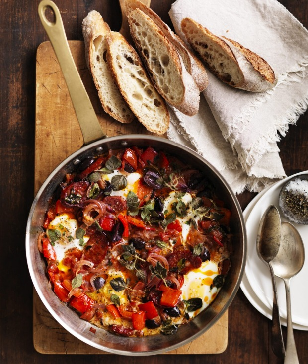Neil Perry's baked eggs are a perfect Sunday supper.