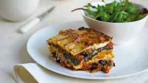 Serve this vegetable lasagne with a simple rocket salad.