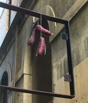 The mystery salami on Abercrombie Lane in the CBD, where Marcella Nelson-Aebi will open Calabria panineria.