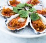 Oysters with red chilli lime dressing at Betel Leaf, Bathers' Pavilion.