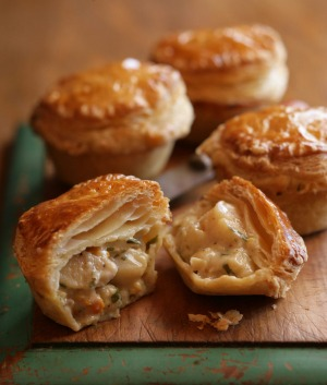 Scallop party pies - definitely not 'nibble pies'.