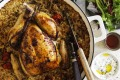 Serve this roast chicken and rice with salad greens, yoghurt and your favourite spicy sauce.