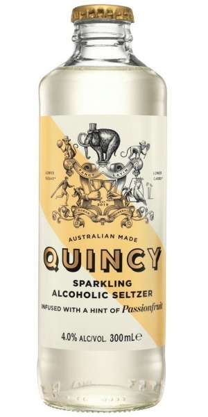 Quincy Passionfruit hard seltzer, launched by Lion Australia in November 2019.