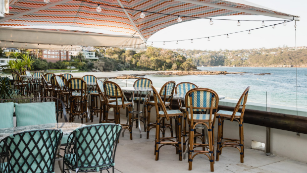 On a good day, you can sit outside on the balcony at Betel Leaf at Bathers' overlooking the beach. Pic credit Nikki To