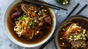 Neil Perry prefers to serve these braised ribs with noodles.