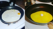 The yolks on you.