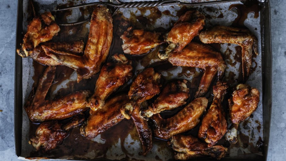 Sticky golden syrup wings.
