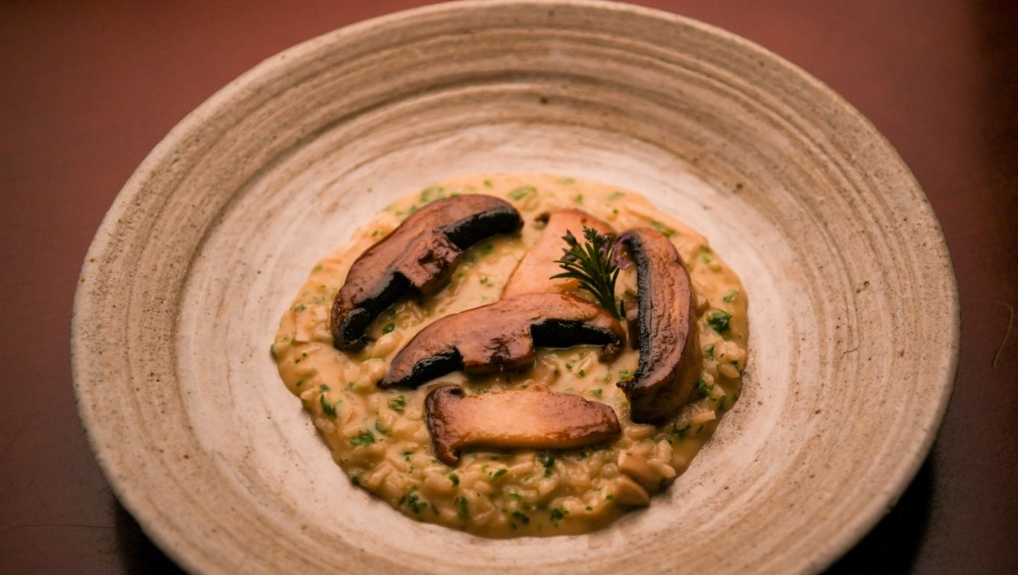 Mushroom risotto from Mister Bianco's Risotto Pronto kits.