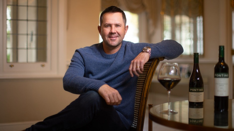 Ready for a long innings: Ricky Ponting hopes his new wine range can crack overseas markets.