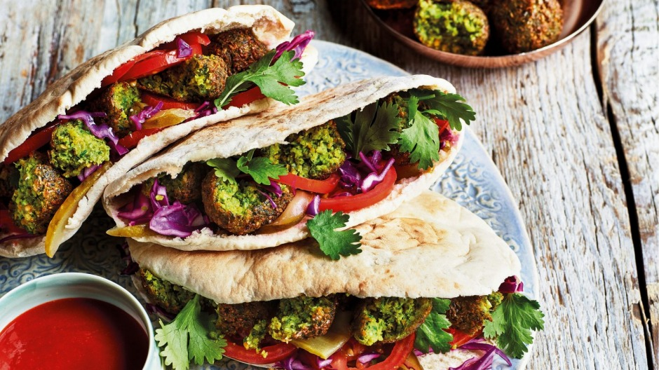Sabrina Ghayour's ultimate falafels are packed with herbs and bolstered with extra flavour.
