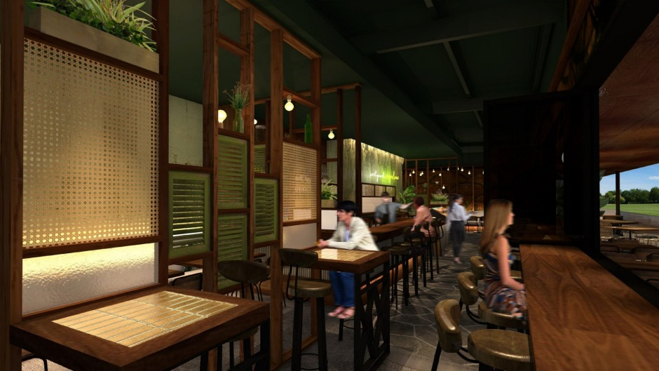 An artist's impression of Sugarlane restaurant, Lane Cove.