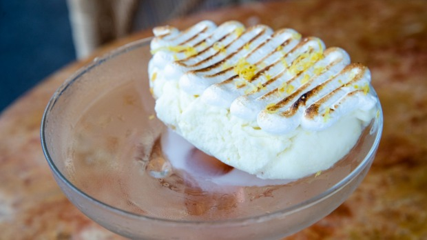Terry Durack review at Ormeggio 2.0. Amalfi lemon gelato. 4th Sept 2020. Photo: Edwina Pickles / SMH Good Food