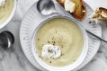 Cauliflower and yoghurt soup.