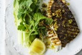 ***EMBARGOED FOR GOOD WEEKEND, OCTOBER 19/19 ISSUE*** Neil Perry Recipe : BBQ John Dory with Pistachios, Preserved ...