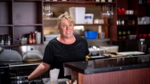 Leah Beamish, owner Bayleaf cafe in Apollo Bay, is excited to be reopening.