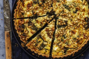Helen Goh's spinach and cheese quiche.