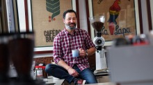 Peter Patisteas, managing director of Griffiths Bros Coffee Roasters in Melbourne.