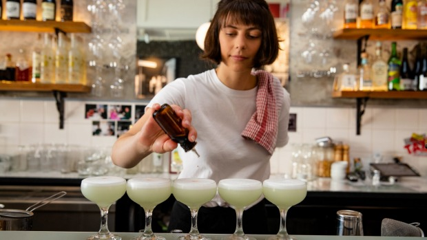 Pepito's offers 10 kinds of pisco.