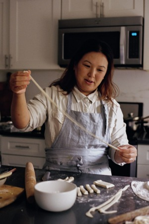 Hetty McKinnon making noodles for her new book, To Asia, with Love.