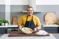 Adam Liaw shows off his egg creations.