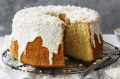Jill Dupleix's rose, lime and coconut chiffon cake.