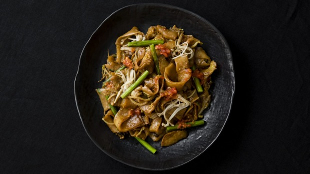 Penang char kway teow from Vegan with Bite by Shannon Martinez published by Hardie Grant Books.