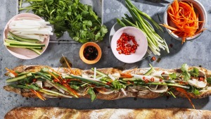 Supersized sandwich: Two-metre banh mi.