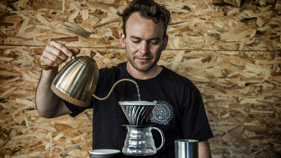 "A differnt, lighter drink: Dan Winch and the Ethopian coffee which came second at the international ""Oscars of coffee"" ..."