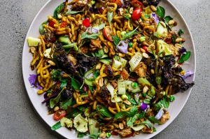 This chicken noodle salad is a riot of colour and flavour.