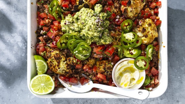 ***EMBARGOED FOR SUNDAY LIFE, OCTOBER 11/20 ISSUE*** Adam Liaw recipe : Cauliflower nachos Photograph by William Meppem (photographer on contract, no restrictions)