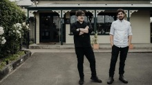Brothers Chayse (left) and Blayne Bertoncello outside O.My restaurant in Beaconsfield.