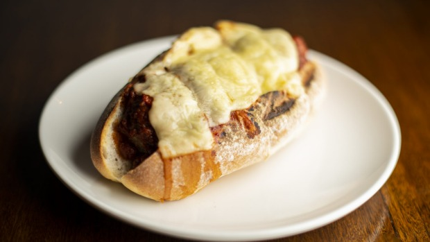 The 'meatball sub' features meatballs made from a lentil and veg protein mix.